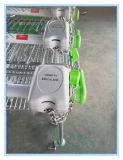carretilla plateada cinc de las compras del supermercado 135L