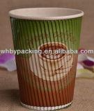 Изготовленный на заказ кофейная чашка бумаги стены пульсации