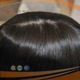 Colore naturale diritto serico dei capelli umani dei capelli su ordinazione della parte