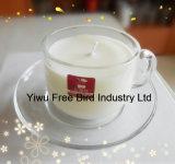 Duftendes Glas-Glaskerze mit Qualitäts-Sojabohnenöl-Wachs-Kerze