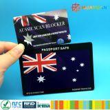 Блокатор предохранения от RFID безопасности кредитной карточки бумажника преграждая карточку