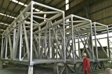 Puente modular del aire de la estructura de acero del edificio con el marco de acero del tubo cuadrado