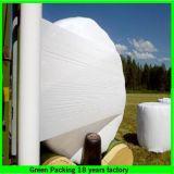Película verde e branca da ensilagem, película do envoltório da ensilagem