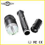 2 Batterien mit T6 LED schwarzer nachladbarer Aluminiumlegierung-Taschenlampe (NK-27)