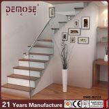 Trilhos de vidro da escada de Frameless da casa moderna (DMS-B2113)