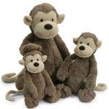 아이 통풍이 나쁜 도매 아기 연약한 동물성 견면 벨벳 파란 원숭이 장난감