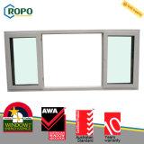 Двойное изготовление сползая стеклянного окна застеклять UPVC пластичное