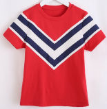 Moda Stripe Navy Girl T-Shirt