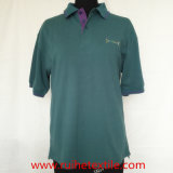 Knit casuale Short Sleeve Embroidered Pique Polo Shirt per Men