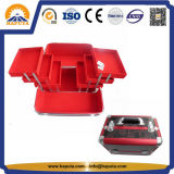 Aluminiumverfassungs-Organisator-Kasten mit 6 Tellersegmenten (HB-2020)