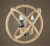 ホームまたはホテルのためのPhineの内部の装飾的なロープのペンダント灯