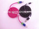 cabo de dados do USB de 3.5mm para o mini altofalante para o telefone móvel