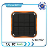 Batería 5600 mAh de la energía solar del USB 2 para el teléfono móvil
