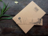 2015 neuestes Custom Fabric Notebook mit Kraftpapier Paper Box