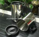 Taza de café del recorrido del acero inoxidable con la maneta (CL1C-M102)