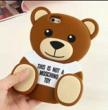 caixa bonito do silicone do urso da peluche dos desenhos animados 3D para iPhone6