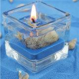 Vela sana natural hecha a mano del gel del tarro de Sented de la Navidad del regalo de cristal del aroma