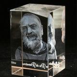 Stich-Bild-Kristallglas-Würfel Laser-3D für Andenken