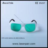 Gafas de seguridad de laser de la IDT 630 - 660nm Od3+ y 800 - 830nm Od5+ para el rojo, En 207 del Ce de la reunión de los lasers del diodo