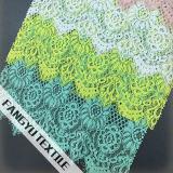 Tessuto di nylon del merletto del bello cotone variopinto