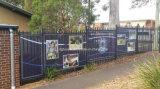 Il vinile del PVC di disegno del tessuto ha perforato la stampa di pubblicità esterna della bandiera della flessione della maglia