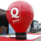 globo de tierra de encargo los 6m rojo de los 20FT alto para al aire libre