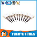Cortador micro del acero del carburo del diámetro de 2 dos flautas