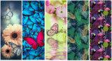 Mat van de Yoga Rubebr van de Mat van de Yoga van de Druk van de vlinder de Natuurlijke