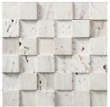 Tuile de mosaïque rustique de nature blanche pour la décoration (FYSC078)