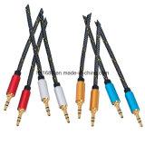 Цветастый кабель штепсельной вилки 3.5mm куртки стерео тональнозвуковой