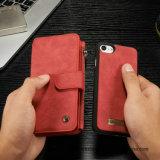 iPhoneのための本物の多機能の革札入れの携帯電話の箱