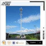 Unipolaire galvanisé avec 30m 35m a employé sur la communication sans fil