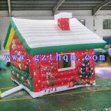 Opblaasbaar Rood Huis voor de Decoratie van het Festival van Kerstmis/Huis van de Uitsmijter van Kerstmis het Opblaasbare