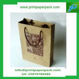 Sac distinctif de papier d'emballage d'achats de sac de luxe de cadeau avec le traitement de corde