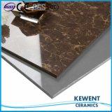 La charge Brown Pulati de double de matériau de construction a poli prix vitrifié par tuile de carrelage de porcelaine le bon