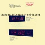 ホームおよびオフィスのための大型の赤い出るLEDの壁のデジタル時計