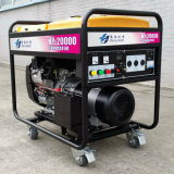 6500 와트 바퀴를 가진 휴대용 가솔린 발전기