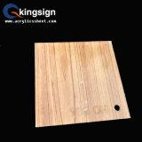 Fornecedor acrílico da folha da grão de madeira