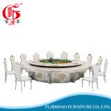 現代大きいサイズの大理石の上の電気円形のダイニングテーブル