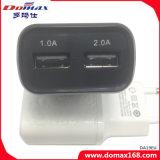 La UE del teléfono móvil tapa el cargador de la pared del recorrido del adaptador del USB 2