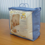 OEM Clear PVC Bedding Quilt Packaging Handle Bag