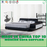 Европейская кровать кожи спальни мебели дома типа