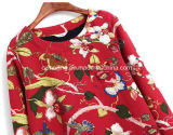 Camisa impresa S bicolor del `de las mujeres