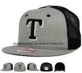 Commercio all'ingrosso grigio della protezione del cappello di Snapback dell'annata di miscela delle lane