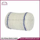 Atadura médica estéril da emergência dos primeiros socorros do Crepe do algodão
