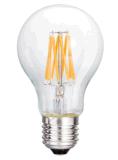 Ampoule en verre claire de base d'homologation de la CE de l'ampoule A60-8 6.5W 650lm E27 Dimmable de filament de DEL
