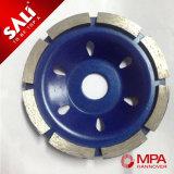 roue de polissage de diamant de rangée de double de qualité de 180mm Chine