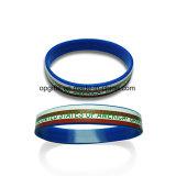 Regalo promozionale personalizzato stampato o Wristband del silicone di Deboss (WD05)