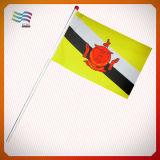 Bandeiras Checkered preto e branco feitas sob encomenda com Pólo (HY234)