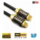 Qualité à extrémité élevé 1.4 2160p, 6 pieds de HDMI de câble équipé pour 4k TV, joueur du Bleu-Rayon 3D